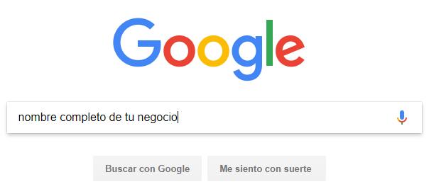 atraer clientes buscar nombre de tu negocio en google