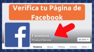 como verificar tu pagina en facebook